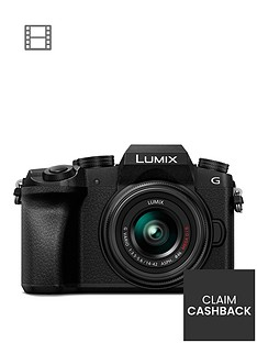 panasonic-dmc-g7-keb-k-compact-system-camera-with-14-42mmnbspoisnbsplens-4k-photo-4k-video-16mp-4x-digital-zoom-wi-fi-ampnbspolednbspviewfinder-black-pound50-cash-back-available