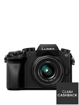 panasonic-dmc-g7-keb-k-compact-system-camera-with-14-42mmnbspoisnbsplens-4k-photo-4k-video-16mp-4x-digital-zoom-wi-fi-ampnbspolednbspviewfinder-black-pound50-cash-back-available