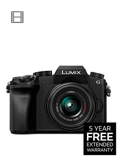 panasonic-dmc-g7-keb-k-compact-system-camera-with-14-42mmnbspoisnbsplens-4k-photo-4k-video-16mp-4x-digital-zoom-wi-fi-ampnbspolednbspviewfinder-blacknbspwith-extended-5-year-warranty-available