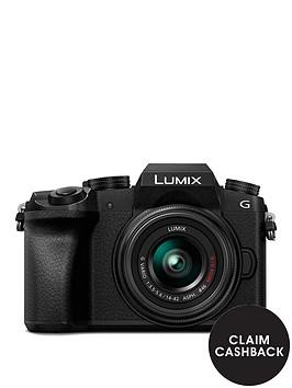 panasonic-dmc-g7-keb-k-compact-system-camera-with-14-42mmnbspoisnbsplens-4k-photo-4k-video-16mp-4x-digital-zoom-wi-fi-olednbspviewfinder-ampnbsp3-tilt-screen-display