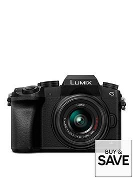 panasonic-dmc-g7keb-k-compact-dslr-mirrorless-camera-with-14-42mm-lens-black