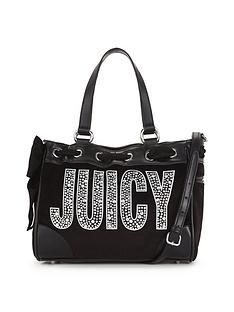 juicy-couture-glam-goddess-mini-daydreamer-velour-bag-black