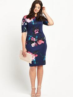 ax-paris-curve-curve-short-sleeve-navy-floral-midi-dress