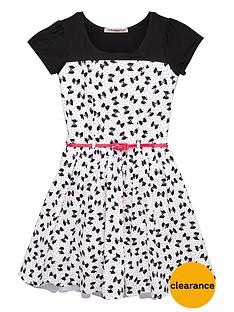 freespirit-girls-belted-bow-print-dressnbsp