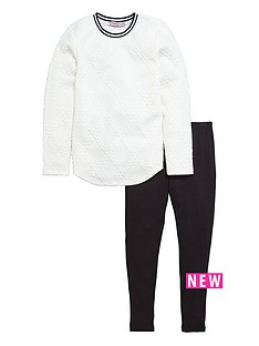 freespirit-sports-bubble-jacquard-top-and-legging-set