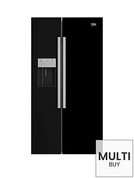 beko-asn541b-usa-style-fridge-freezer-with-stored-water-and-ice-black