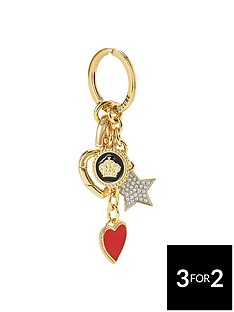 juicy-couture-enamel-heart-amp-charms-key-fob-gold