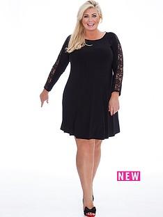 gemma-collins-gemma-collins-lace-swing-sleeve-dress