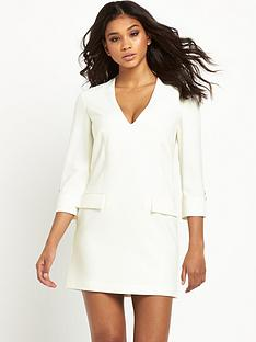 pinko-v-neck-pocket-shift-dress