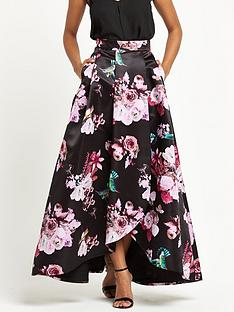 pinko-floral-print-maxi-skirt-blackpink