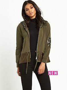 pinko-britomante-military-sequin-jacket-olive