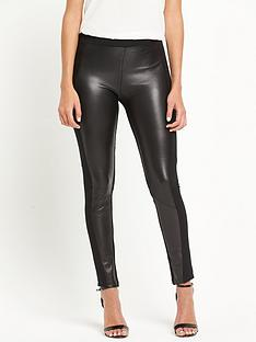 pinko-fersona-leather-insert-leggings-black
