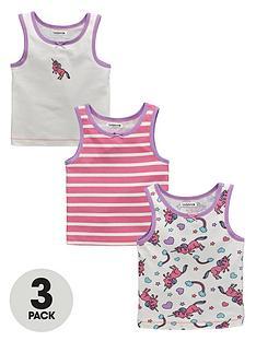 ladybird-girls-unicorn-vests-3-pack