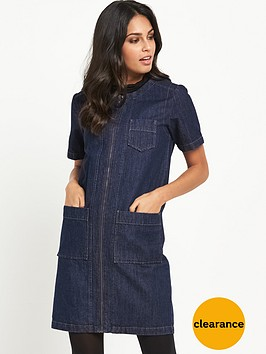 v-by-very-zip-through-denim-shift-dress
