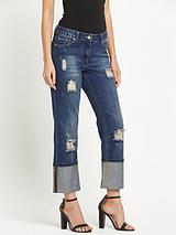Blake Ripped And Distressed Turn Up Boyfriend Jeans