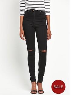 south-high-waist-slashed-knee-tube-jeansnbsp