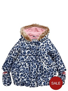 ladybird-girls-wadded-animal-print-coat-12-months--7-years