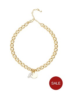 juicy-couture-pave-link-disc-necklace-gold