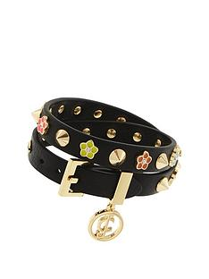 juicy-couture-flower-studded-wrap-bracelet-black
