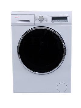 sharp-es-fc8144w3-1400-spin-8kg-load-washing-machine-white