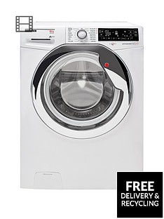 Hoover DXP412AIW3 Dynamic Next Premium 12kg Load, 1400 Spin Washing Machine - White/Chrome