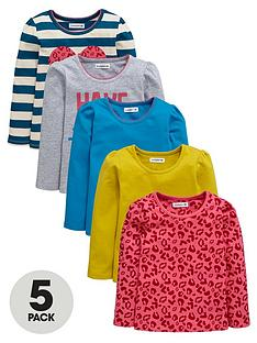 ladybird-girls-long-sleeve-print-and-plain-t-shirts-5-pack-12-months-7-years