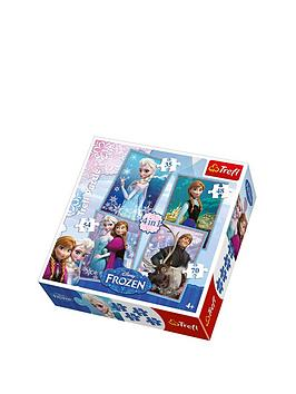 trefl-4-in-1-puzzle-frozen