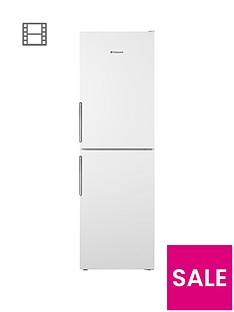 Hotpoint Day 1 LEX85N1W 60cm Wide, Frost-Free Fridge Freezer, A+ Energy Rating - White