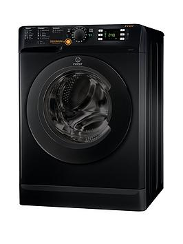 Indesit Xwde751480Xk Innex 1400 Spin, 7Kg Wash, 5Kg Dry Washer Dryer - Black