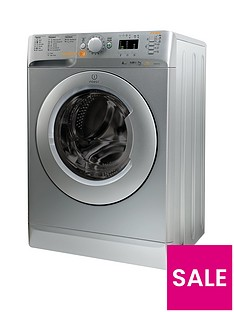 Indesit Innex XWDE751480XS Innex 1400 Spin, 7kg Wash, 5kg Dry Washer Dryer - Silver