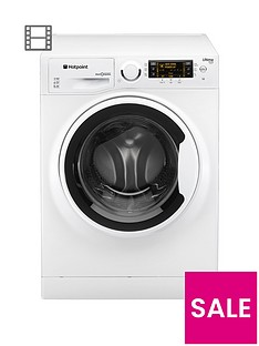 Hotpoint Ultima S-Line RPD10457J 10kg Load, 1400 Spin Washing Machine - White