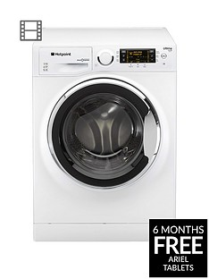 Hotpoint Ultima S-Line RPD10657JX 10kg Load, 1600 Spin Washing Machine - White/ChromeA+++ Energy Rating