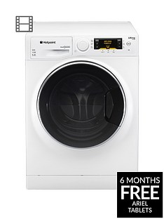 Hotpoint Ultima S-Line RPD10667DD 10kg Load, 1600 Spin Washing Machine - White