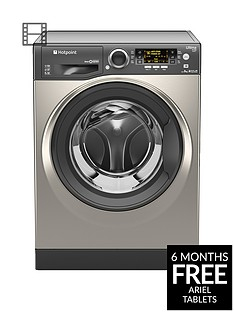 Hotpoint Ultima S-Line RPD9467JGG 9kg Load, 1400 Spin Washing Machine - GraphiteA+++ Energy Rating
