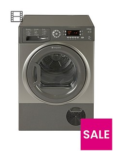 Hotpoint UltimaS-LineSUTCD97B6GM 9kgSensor Condenser Tumble Dryer - Graphite