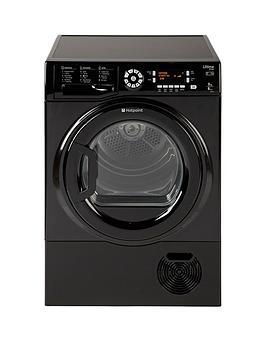 Hotpoint Ultima S-Line Sutcd97B6Km 9Kg Sensor Condenser Tumble Dryer - Black