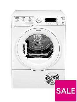 hotpoint-ultima-s-line-sutcdgreen9a1-9kgnbspheat-pump-sensor-tumble-dryer-whitebr-a-energy-rating