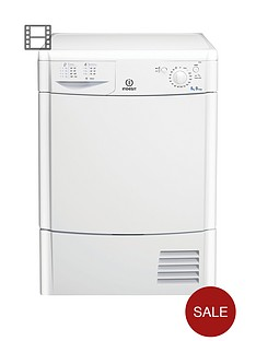 Indesit IDC8T3B 8kgLoad Condenser Tumble Dryer - White