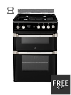 indesit-id60g2k-60cm-gas-cooker-double-oven-black