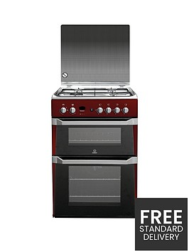indesit-id60g2r-60cm-gas-cooker-double-oven-with-fsd-red