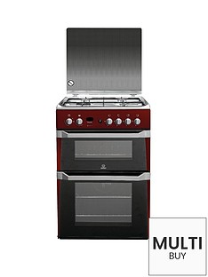 indesit-id60g2r-60cm-gas-cooker-double-oven-red