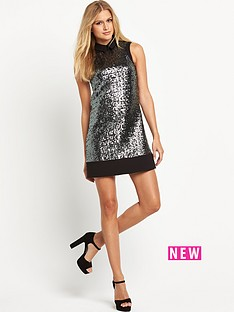 v-by-very-collared-sequin-shift-dress