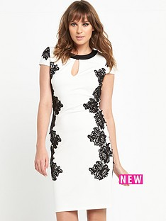 v-by-very-lace-trim-mono-dress