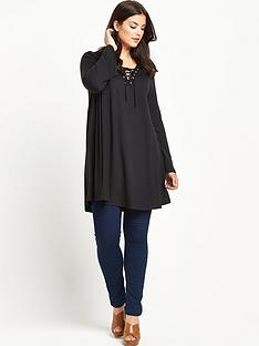 alice-you-tie-front-flare-sleeve-tunic