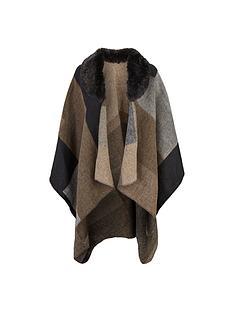 lipsy-cape-with-faux-fur-collar-multi