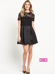 v-by-very-bow-back-lace-skater-dress