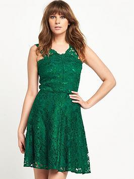 V by Very Strap Lace Skater Dress
