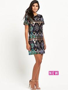 rare-rare-sequin-aztec-dress