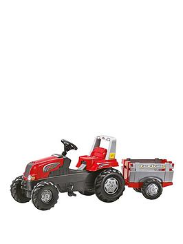 rolly-toys-rolly-junior-rt-tractor-and-farm-trailer-red