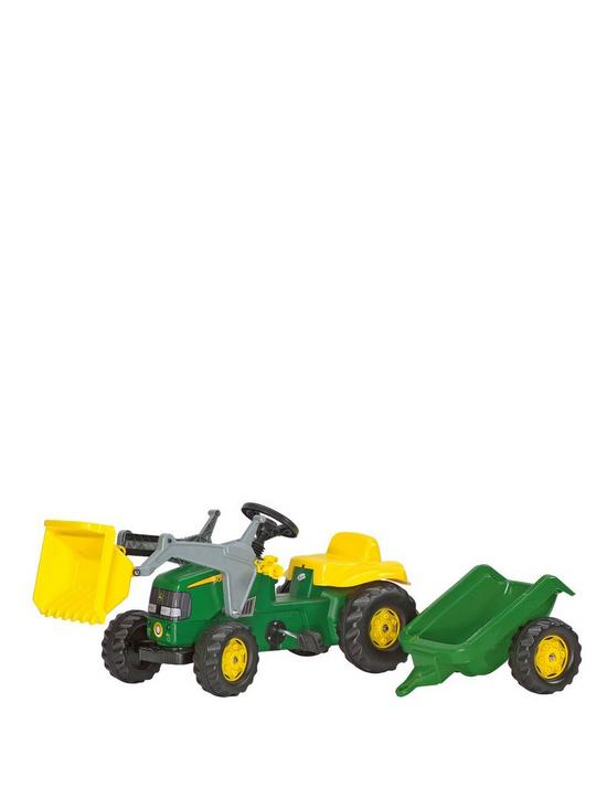 b66908113b4 Rolly Toys Rolly Kid John Deere Tractor with Frontloader and Trailer ...